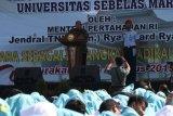 Menhan Ryamizard Ryacudu  ajak mahasiswa UNS jaga Pancasila