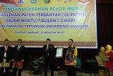 Unila raih penghargaan Muri kategori hak paten terbanyak
