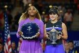 Serena dapat dukungan fans tapi apa daya Andreescu lebih perkasa