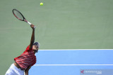 Ari Fahresi berjuang susul tim Indonesia hadapi Barbados di Davis Cup 2021