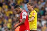 Sempat unggul dua gol, Arsenal ditahan imbang Watford. Ini ekspresi Aubameyang