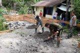 Kodim Sangihe membangun rumah tiga pilar