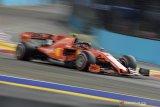 Leclerc raih pole position untuk Ferrari pada kualifikasi GP Singapura