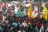 Aksi demo di Gedung DPRD Provinsi Lampung berlangsung damai