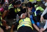 Kondisi jurnalis WNI yang tertembak peluru karet saat meliput demo di Hong Kong