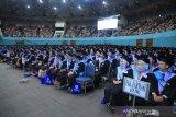 Universitas Pancasila melepas 1.745 wisudawan Tahun Akademik 2018/2019 yang di gelar di Jakarta Convention Center Jakarta, Selasa.