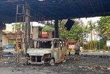 Plat nomor mobil terbakar di SPBU diduga palsu