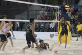 Indonesia melawan Australia pada perempat final voli World Beach Games
