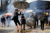 Demonstran  dukung Uighur, bentrokan kembali pecah di Hong Kong