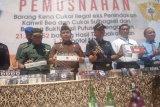 Kanwil Bea Cukai Sulbagsel musnahkan 21,2 juta batang rokok ilegal
