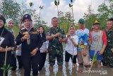 Prajurit TNI AL tanam 4.000 bibit mangrove di Bangka Belitung