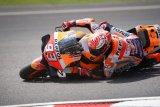 Marquez uji tuas rem belakang model baru, Rossi kompetitif di Sepang