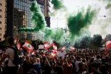 Satu polisi tewas dan 142 orang terluka saat aksi protes Lebanon
