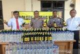 Polres Batang sita ratusan botol minuman beralkohol