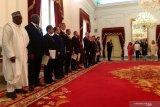 Presiden Joko Widodo terima surat kepercayaan 7 duta besar negara sahabat