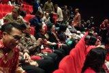 Megawati Soekarnoputri menghadiri nobar Film Nagabonar Reborn di Plaza Senayan