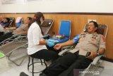 RS Bhayangkara Mataram menggelar donor darah meriahkan HUT POLAIRUD Ke-69