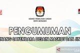 KPU Manado umumkan pemenang maskot dan jingle pilkada