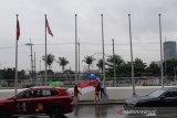 Hujan dan angin kencang melanda Manila, bendera kontingen SEA Games diturunkan
