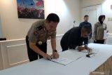 Tingkatan kompetensi di bidang kehumasan, Polri tandatangani MoU dengan LKBN Antara