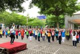 Bank Jateng ajak para pensiunan senam bersama
