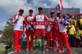 Tim balap sepeda Indonesia raih perak setelah kalah tipis dari Thailand