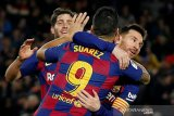 Messi rayakan Ballon d'Or dengan trigol saat Barcelona atasi Mallorca