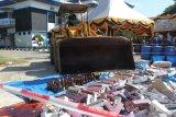 Bea Cukai gagalkan penyelundupan 30 kilogram sabu asal Malaysia dan menenggelamkan kapalnya