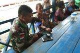 Satgas Pamtas RI-PNG berikan pelayanan kesehatan di Kampung Okyako Pegunungan Bintang
