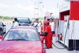 Arus mudik Natal konsumsi BBM Pertamax di Tol Trans-Sumatera melonjak signifikan