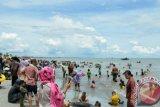Mau swafoto pakai busana Jepang, datanglah ke Pantai Kerang Mas