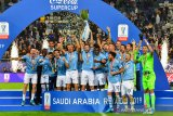 Hantam Juve, Lazio menangi Piala Super Italia untuk kelima kalinya