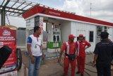 Selama arus mudik Natal dan Tahun Baru penjualan tertinggi BBM ada di SPBU Km 87A Jalan Tol Sumatera