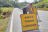 Hujan deras di Toraja akibatkan longsor disejumlah lokasi