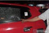 Mobil wartawan Antara dilempari  orang  tak dikenal