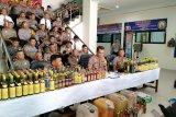 Ratusan botol minuman beralkohol disita selama Operasi Pekat Singgalang 2019