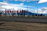 Danau Ranau  dipadati wisatawan selama libur tahun baru