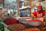 Harga cabai merah di pasar raya Padang Rp46.000 per kilogram
