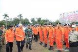 Wagub mengecek personil dan peralatan untuk memastikan kesiapan Sumsel menghadapi bencana