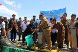 Gubernur Arinal minta Danlanal jaga perairan Lampung dari pencurian ikan