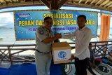 Jasa Raharja Lampung lakukan sosialisasi di Pulau Pahawang