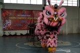 Pelajar SMP Kudus rayakan Imlek dengan atraksi barongsai
