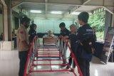 Para mahasiswa Fakultas Teknik Universitas Pancasila Jakarta ketika ingin memperkenalkan maket jembatan kepada para pelajar dalam acara Engineering Open House 2020 FTUP yang dilaksanakan oleh SEMA FT- KMUP.