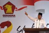 Rapimnas Partai Gerindra meminta Prabowo kembali pimpin partai