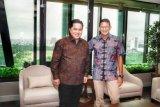 Pertemuan Erick Thohir dan Sandiaga Uno bahas pengelolaan BUMN