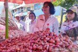 Satgas Pangan Kalteng sidak pasar tradisional cek ketersediaan bawang putih