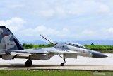 Empat pesawat tempur sukhoi gelar patroli Lintas Panah 2020 di wilayah NTT