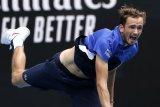 Medvedev tersungkur di Rotterdam Open, Monfils melangkah mulus