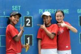 Tim putri Indonesia tundukkan Srilanka 2-1 dalam ajangkualifikasi zona Asia/Oseania World Junior Tennis Competition (WJTC) 2020