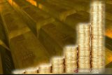 Harga emas berjangka melonjak hingga 46 dolar